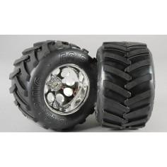 Monster Truck tires S, 14mm, glued, 2pcs.