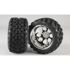 Stadium Truck tires S, 14mm, glued, 2pcs.