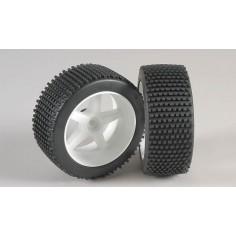 Mini-Pin, M , OR tires, glued, white 2pcs.