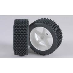 Mini-Block, M , OR tires, glued, white 2pcs.