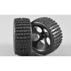Baja tires M wide glued, 2pcs.