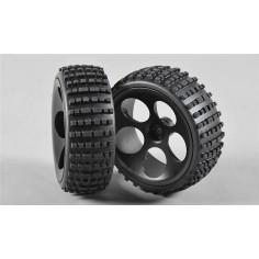 Baja tires S narrow glued, 2pcs.