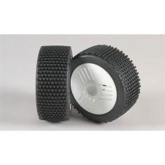 Mini Pin H / OR tires, Leo wheel white, glued, 2pcs.