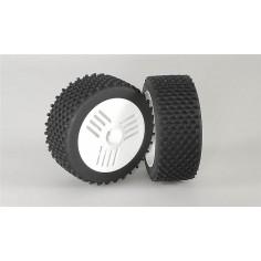 Mini block M / OR tires, glued, white, 2pcs.