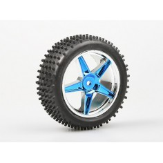 Front Wheel Complete- Buggy 1:10, 2pcs (Blue metalic)