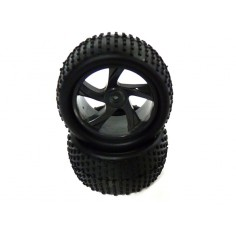 Tire and Rim for Truggy 2P
