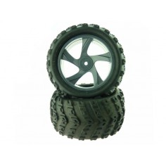Tire and Rim for Monster Truck 2P