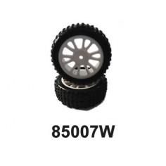 Front White Rim & Tire Complete (85005w+85006) 2p