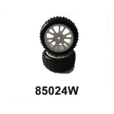 Rear White Rim & Tire Complete (85022w+85023) 2p