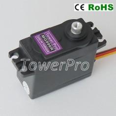"TowerPro MG996R ROBOT 360° 9.4KG 0.16s ""High Torque"" servo mechanizmas su metaliniais dantračiais ir rutuliniais guoliais"
