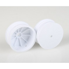 4WD FRONT 10 MM HEX WHEELS, WHITE (#AE9767)