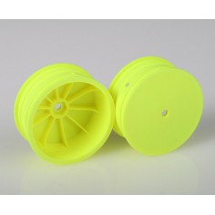 4WD FRONT 10 MM HEX WHEELS, YELLOW (#AE9768)