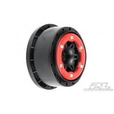 "Split Six 2.2""/3.0"" Red/Black Bead-Loc Wheels"