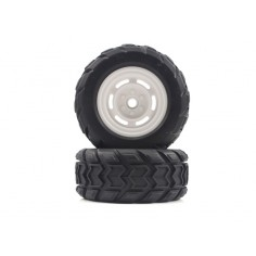 Monster Truck Front Tires&Rims 2P