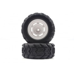 Monster Truck Rear Tires&Rims 2P