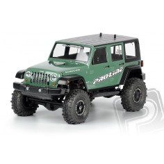 "Jeep Wrangler Unlimited Rubicon clear body for 12.3"" Wheelbase 1:10 Scale Crawlers"