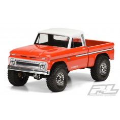 """1966 Chevrolet C-10 Clear Body (Cab + Bed) for 12.3"""" (313mm) Wheelbase Scale Crawlers"""