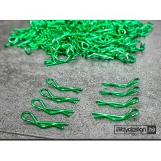 Clips Kit for 1/10 Off/On-road bodies - Green