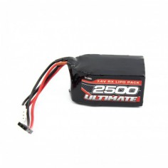ULTIMATE 7.4V. 2500MAH LIPO HUMP RECEIVER BATTERY PACK JR
