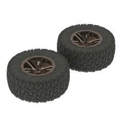 Sidewinder 2 SC Tire/Wheel Glued Blk/Chrm (2)