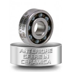 FRONT BEARINGS WITH CERAMIC BALLS - O7x18x5,3mm - 9 balls - rubber screen