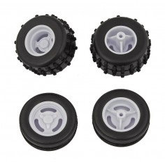 RC28 Tires and Wheels, mounted