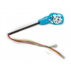 Motorset - Motor counter - clockwise incl. connection rods, motor mount and LED white/blue