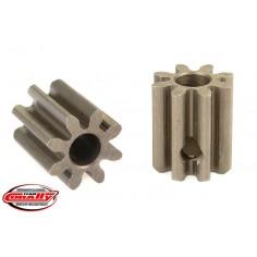 32DP Pinion - Short - Hardened Steel - 8 Teeth - Shaft Dia. 3.17mm