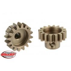 32DP Pinion - Short - Hardened Steel - 16 Teeth - Shaft Dia. 3.17mm