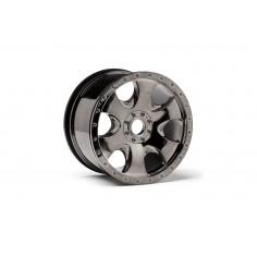 Warlock wheel black chrome (83x56mm) 2pcs