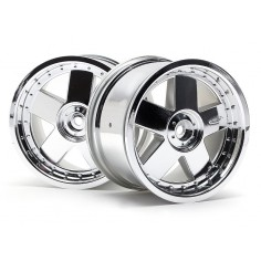 GT 5 wheel chrome (83x56mm/2pcs)