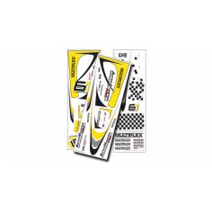 1-01012 Acromaster Pro decals yellow-silver