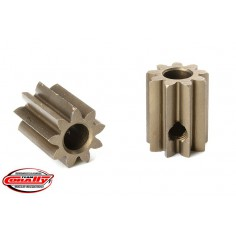 M0.6 Pinion - Short - Hardened Steel - 9 Teeth - Shaft Dia. 3.17mm