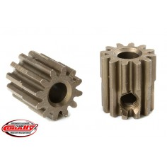 M0.6 Pinion - Short - Hardened Steel - 12 Teeth - Shaft Dia. 3.17mm