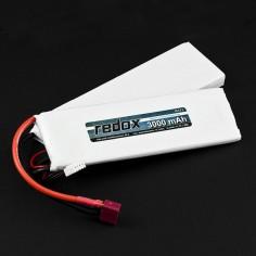 Redox ASG Aisoft 3000mAh/11.1V 20C Li-PO, T-Plug Deans