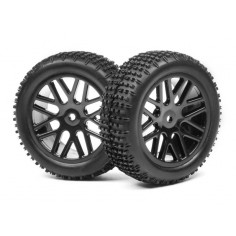 Complete wheel, 1:10 Buggy Front (2pcs)