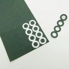 25x4s 18650 celių izoliacinio popieriaus žiedai 4s papildomai apsaugai