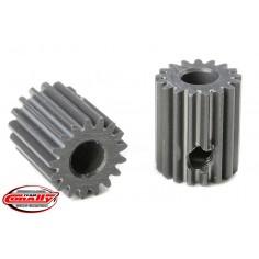 64 DP Pinion - Short - Hard Anodised AL7075 - 17 Teeth - Shaft Dia. 3.17mm