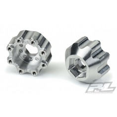 """8x32 to 17mm 1/2"""" Offset Aluminum Hex Adapters for Pro-Line 8x32 3.8"""" Wheels"""