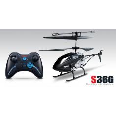 SYMA S36, 2.4Ghz 3-kanalų metalinis sraigtasparnio modelis su giroskopu